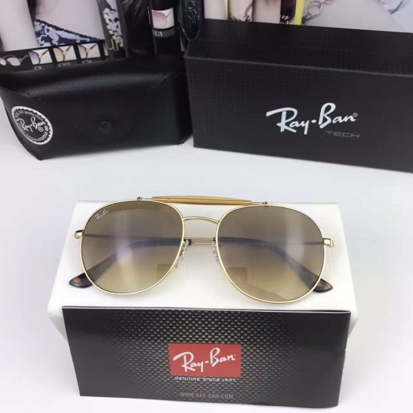 f58dd60afe Cheap Fake Ray Ban Round Sunglasses RB3540 Gold Frame Brown Lens Outlet