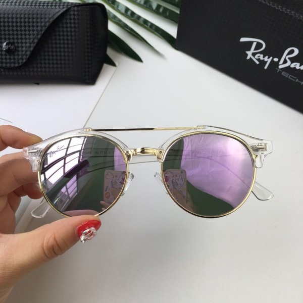 621fbe3ac67 Sale Cheap Ray Ban Clubmaster Sunglasses RB3816 Double Bridge Silver Frame  Purple Lens
