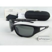 Oakleys Crankcase Sunglasses Black Frame Gray Polarized Lens